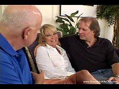 Blonde Swinger Wife Tries Two Cocks