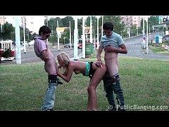 Shocking PUBLIC teens orgy on the street