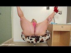 BBW Superstar Samantha 38G Drills her Tight Pus...