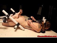 Lezdom mistress punishes by pinching