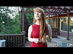 PropertySex - Hot redhead real estate agent per...