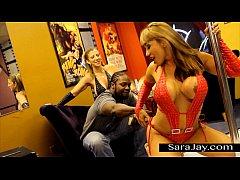 Stripper Sluts Sara Jay and Ava Devine Fuck Bla...