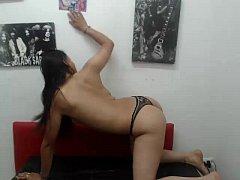 Hot Hispanic Girl Stripping on Webcam - xdance....