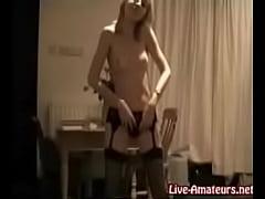 Blonde in Lingerie Dances for Webcam
