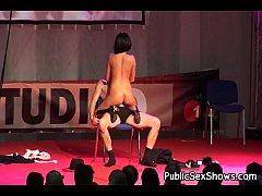 Busty stripper riding a lucky guy