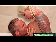 Nuru Massage With Busty Japanese Masseuse Who S...