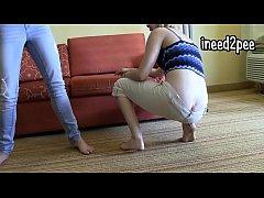Lela and Li both peeing their jeans pants 2015