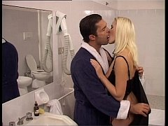 A rich couple fuck in their bathroom