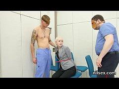 Slutty nympho is taken in anus asylum for uninh...