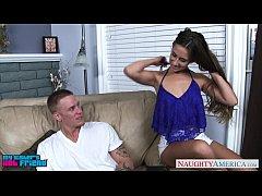 Brunette babe in blue top Cassidy Klein gets fu...