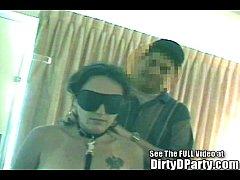 Tampa Sex Slave's Blindfold Bukkke Gang Bang
