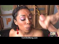Nice ebony blowjob hard 8