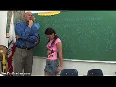Teen Bounces On Her Teacher's Hard Cock!