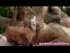 Malena Morgan and Lily Love sensual massage and lesbian sex