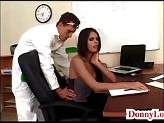 Donny Long gives cute super hot huge tit secret...