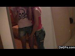 Two skinny chicks tease on webcam