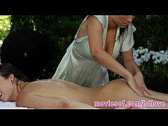 Lily Love and Malena Morgan passionate lesbian sex