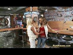 cute Blonde lesbians satisfying pussies