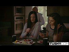 TUSHY Ariana Marie And Marley Brinx First Anal ...