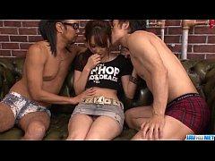 Dirty Asian threesome along insolent Miyu