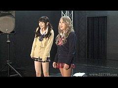 Japanese femdom Shuri Atomi and MIRANO makes sl...
