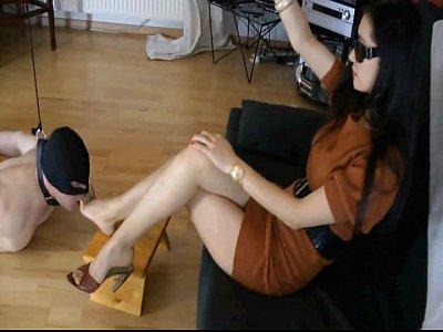 Femdom Action - German Goddess Leyla Dominates Her Slave