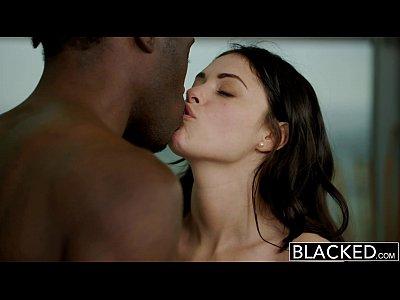أسود-امرأة بريطانية إيفا Dalush يحب الديك الأسود!