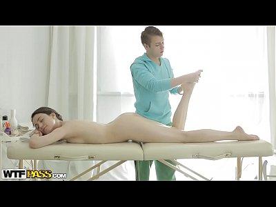 Cumsh Doggystyle Massage video: Izi gets massage and good fuck as a bonus