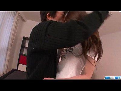 Asian Japanese Fingering video: Fat cock for big tits Asian beauty Arisa Kuroki