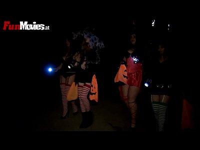Оргия на Хэллоуин с развратницами