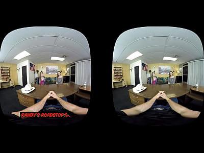 Bigdick Vr Kaseywarner video: VR Threesome - Zoey Laine and Kasey Warner - Randy's Roadstop