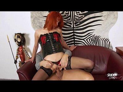 Hardcore Latex Fetish video: Shootourself Hardcore redhead latex domina rock the cock of skinny dude