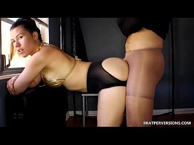 Femdom Fetish Pantyhose video: Kinky Assjob Nylons Fantasy