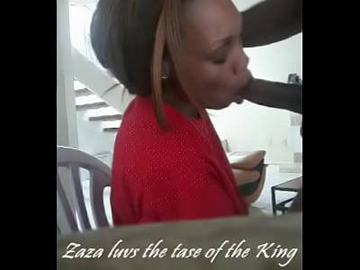 Ebony girl insane deepthroat