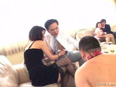 ドS美痴女妻とドMオヤジ達のお見合いSM乱交SEXパーティ