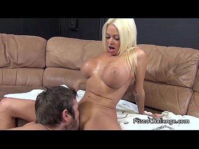 Blowjob Shaved Pornstar video: Titjob and BJ from Nikita Von James