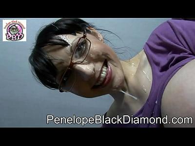 Penelope black diamond blowjob titfuck video