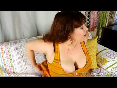 Bbw Boobs Breasts video: Busty old spunker loves talking dirty and fucking her fat juicy pussy