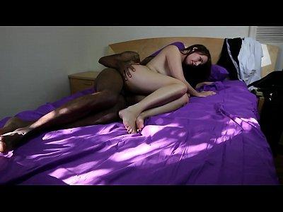 Brunette Webcam Wife video: interracial couple fucking on cam