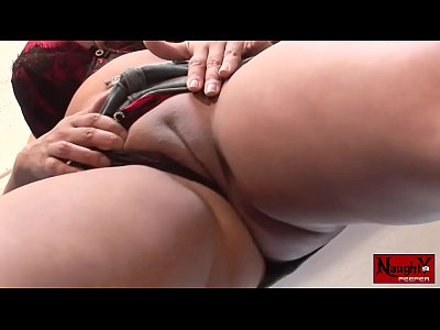 British big tit milf masturbates in panty while we look upskirt