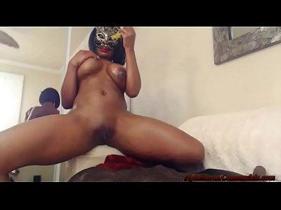 Masturbation Lingerie video: Sexy Ebony Pussy Cat Nyla Storm!
