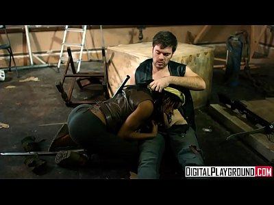 Ebony Teen Facial video: The Walking Dead A XXX Parody