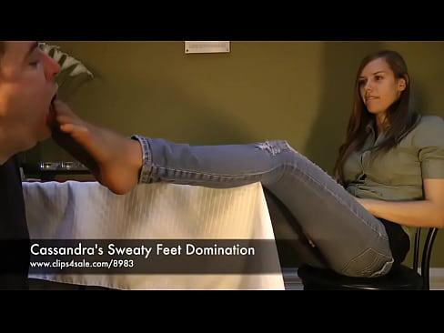 Cassandra&#039_s Sweaty Feet Domination - www.clips4sale.com/8983/15844880