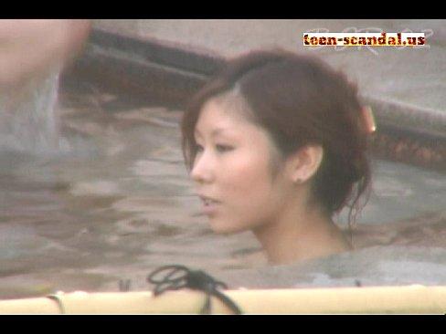 (GAL)ヤンキーシロウトGALが露天風呂ではしゃぐ様子を本当にREAL秘密撮影した隠し撮りムービー☆