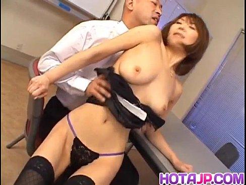 Jun Kusanagi Asian milf gets pussy licked and anus fingered before hardcore fucking