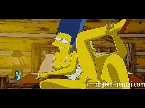 Simpsons Hentai fodendo bem gostosinho ate melar a xota