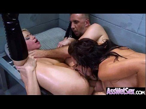 (anikka jada) Big Ass Oiled Wet Girl Love Anal Sex vid-05
