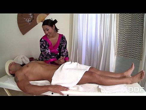 Beautiful Asian masseuse Sharon Lee gets Holed ...