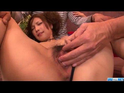 Tsubasa Aihara likes having two cocks to play with