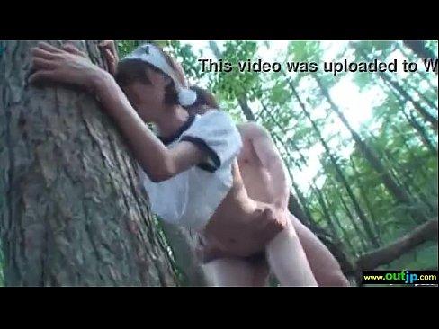 【音市美音】激カワちゃんが森でバックでパコラレ気持ちよくて羞恥心がなくなっちゃったよ
